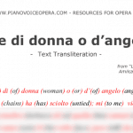 Voce di donna o d'angelo Text Transliteration