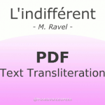 l'indifferent text transliteration
