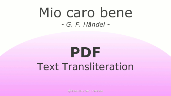 Mio caro bene text transliteration