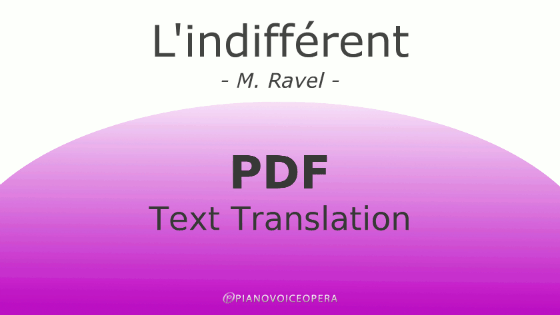 l'indifferent text translation