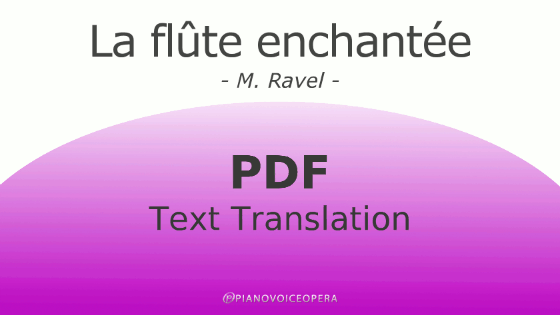 La flûte enchantée text translation