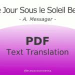 Le jour sous le soleil beni text translation