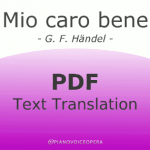 Mio caro bene text translation