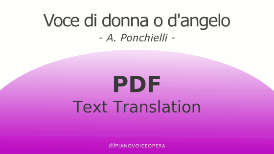Voce di donna o d'angelo Text Translation