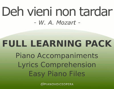 Deh vieni non tardar Learning Pack