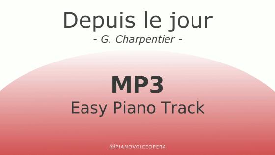 Depuis le jour easy piano accompaniment track