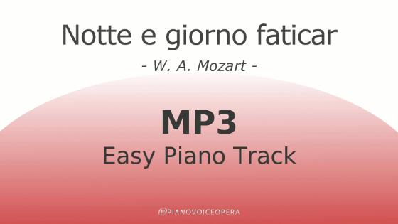 Notte e Giorno Faticar easy piano accompaniment track