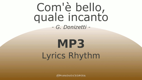Com'è bello lyrics rhythm