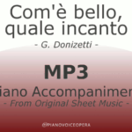 Com'è bello piano accompaniment