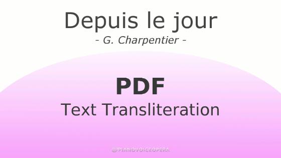 Depuis le jour text transliteration