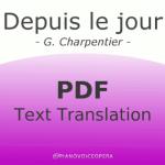 Depuis le jour text translation
